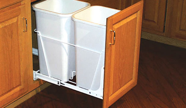Double Pull-Out Waste/Recycling Bin