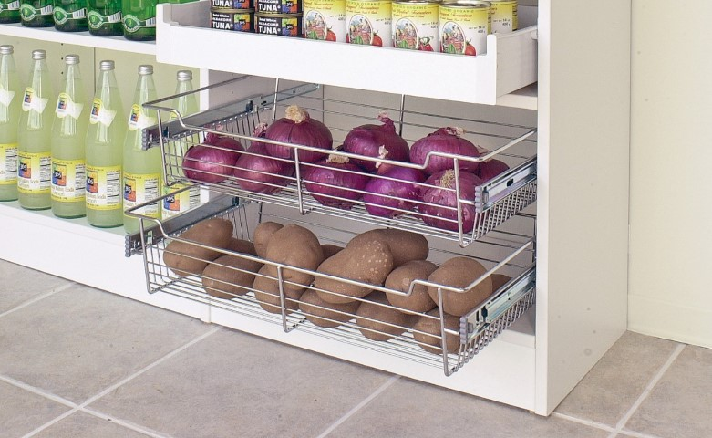 Pull Out Pantry Wire Baskets